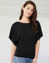 Flowy Draped Sleeve Dolman T-Shirt